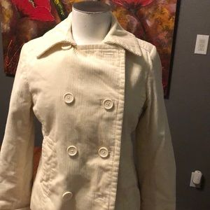 Cream corduroy Pea Coat